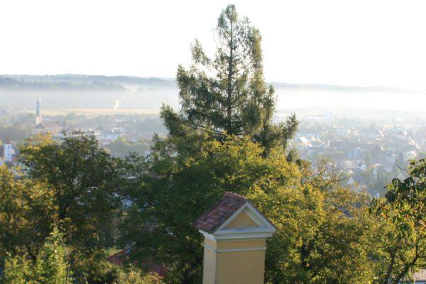 Blick vom Kalvarienberg auf Feldbach in der Steiermark
